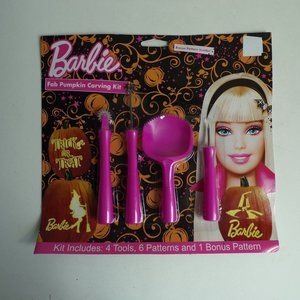 Halloween Pumpkin Carving Set Barbie Witch Cat